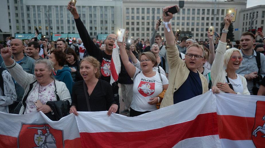 Protest w Mińsku, 20.08.2020 r.