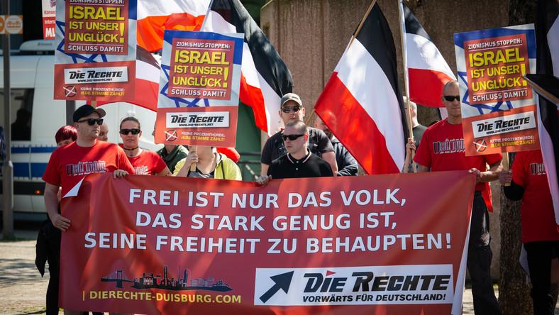 Manifestacja niemieckiej Die Rechte