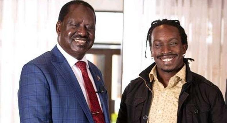 Video Director Mushking with Raila Odinga