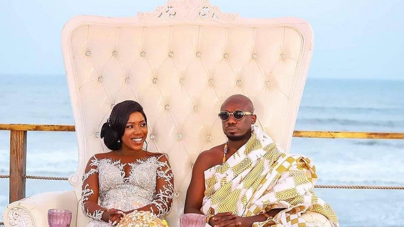 Newly married Victoria Lebene and Eugene Osafo-Nkansah