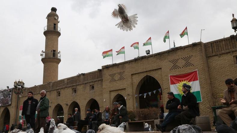 Miasto Erbil w Iraku