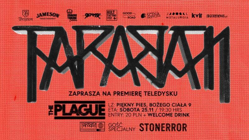 Premiera teledysku zespołu Taraban - plakat