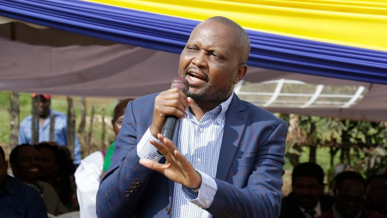 Gatundu MP Moses Kuria speaks during a past event