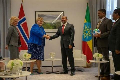 Norway's Prime Minister, H  E  Erna Solberg, at the African