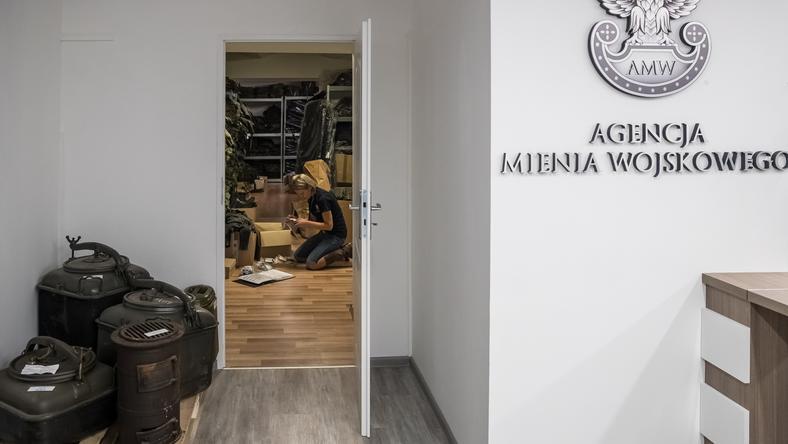 Otwarcie sklepu z militariami utworzonego przez Agencję Mienia Wojskowego