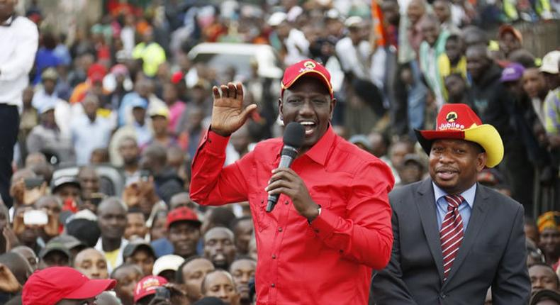 File image of DP Ruto with Mike Sonko