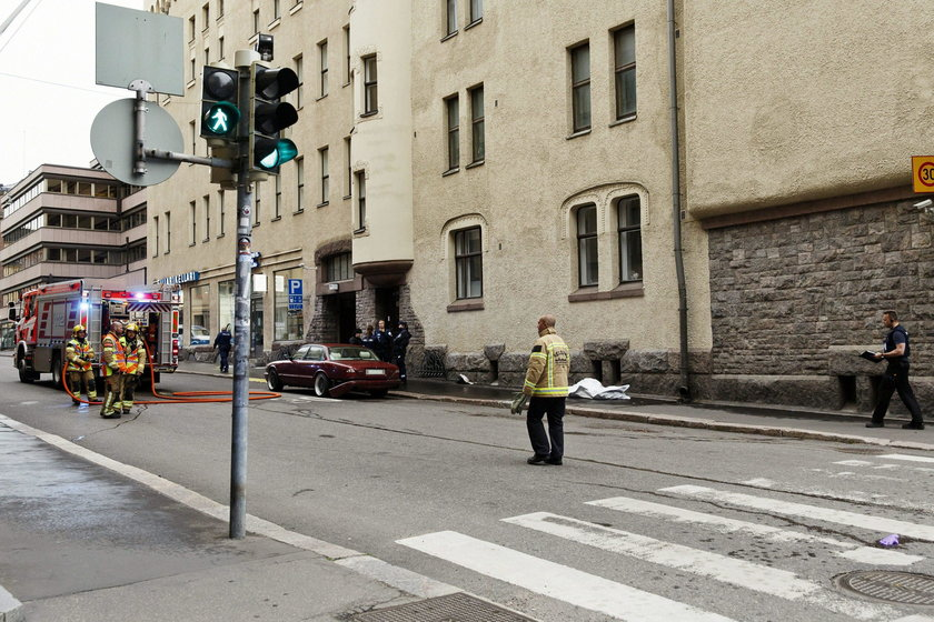 Accident occurred in downtown Helsinki where an intoxicated man hit people with his car, in Helsinki