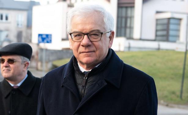 Zwróciłem także uwagę, dlaczego prezydent Andrzej Duda nie weźmie udziału w spotkaniu w Yad Vashem - powiedział minister spraw zagranicznych Jacek Czaputowicz