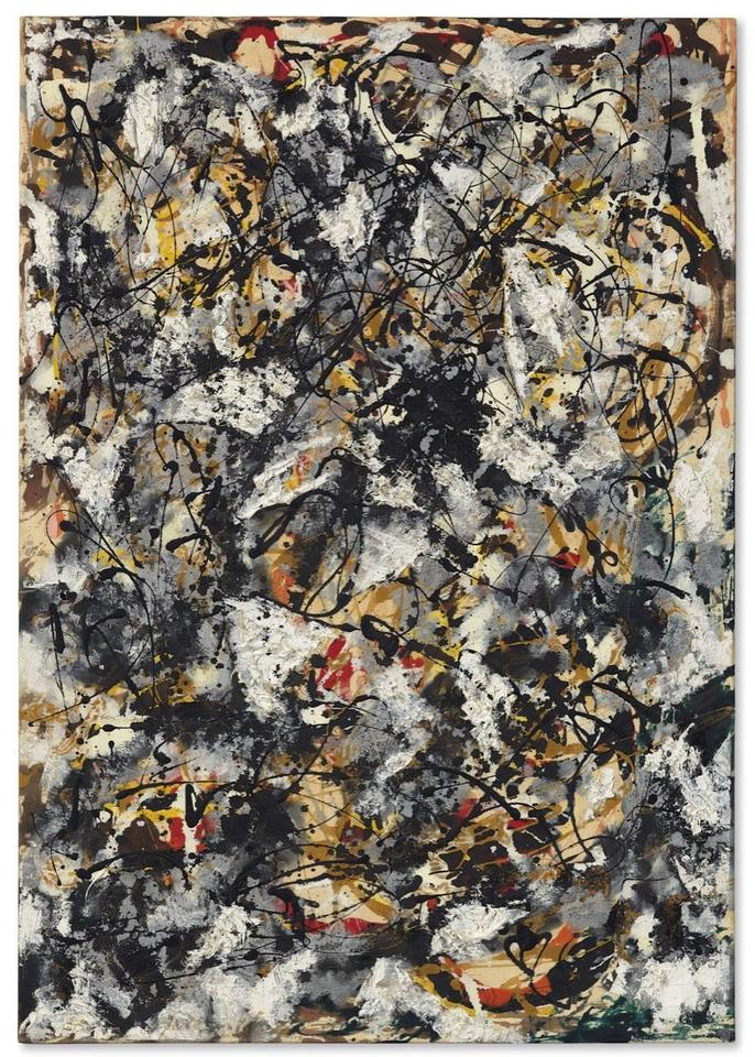 "55,4 mln dol. - Jackson Pollock, ""Composition with Red Strokes"", 1950"