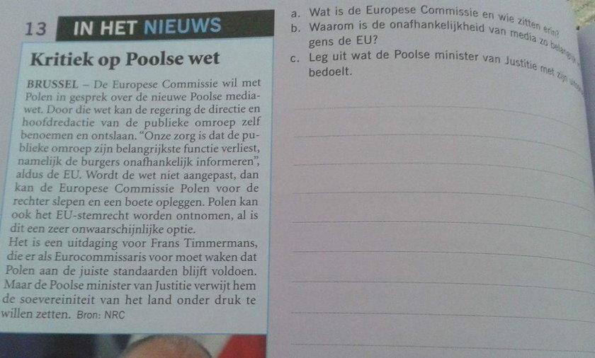 Holenderscy maturzyści uczą się o Polsce