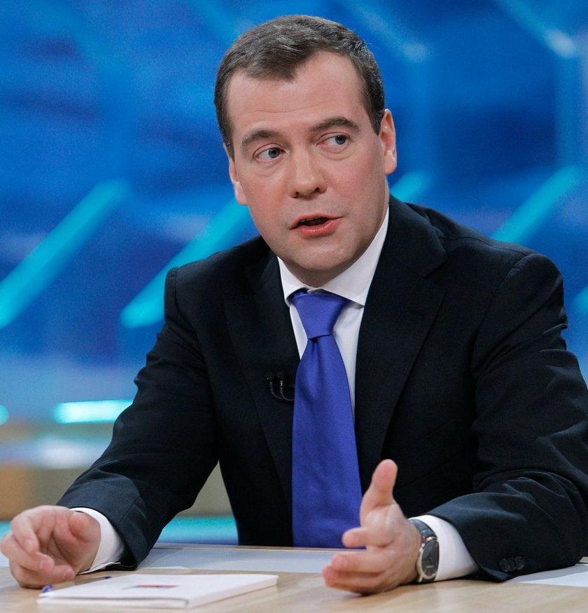 Przywódcy państwa rosyjskiego będzie towarzyszył premier Dmitrij Miedwiediew