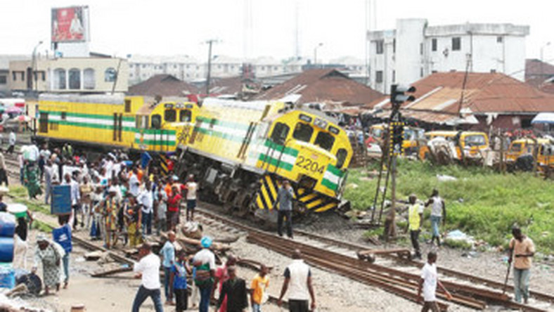 Nigerian Railway Corporation (NRC) said that a passenger train crushed a beggar to death in Lagos on Monday [newswatchnigeria]