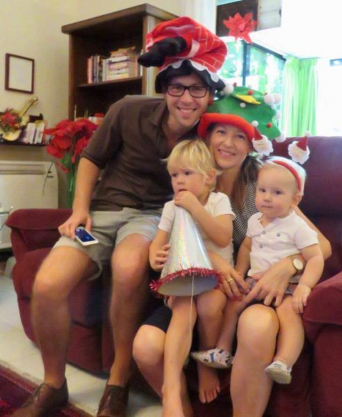 Joanna Krzystek z rodziną podczas Bożego Narodzenia w Arabii Saudyjskiej