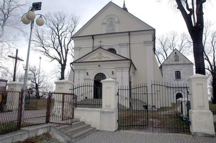Ograbiony kościół w Hrubieszowie