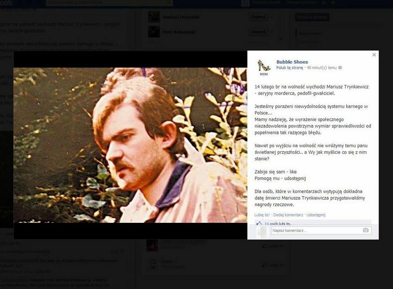 """Mariusz Trynkiewicz w konkursie sklepu obuwniczego? """"Dla osób, które w komentarzach wytypują dokładną datę śmierci Mariusza Trynkiewicza, przygotowaliśmy nagrody rzeczowe"""""""