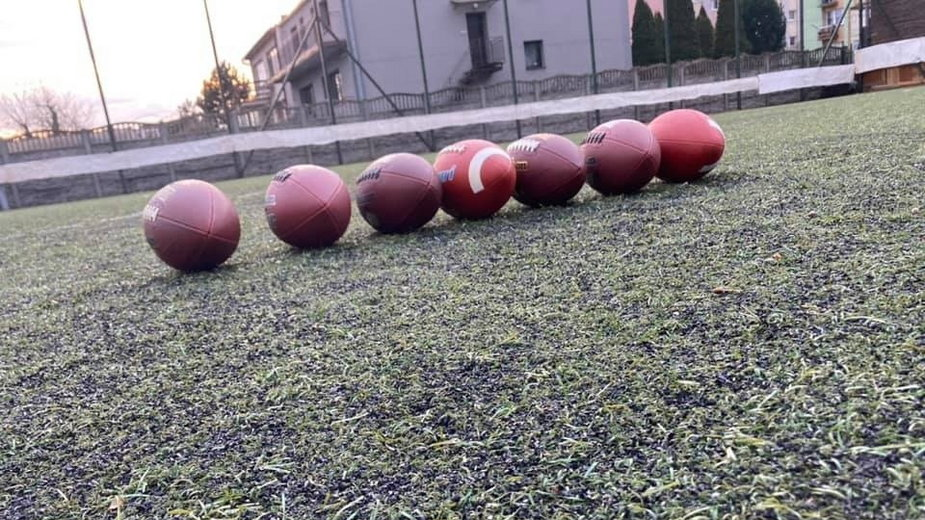 Trening sieradzkiego klubu futbolu amerykańskiego Warriors Sieradz