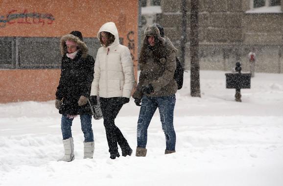 Sneg u svim krajevima Srbije