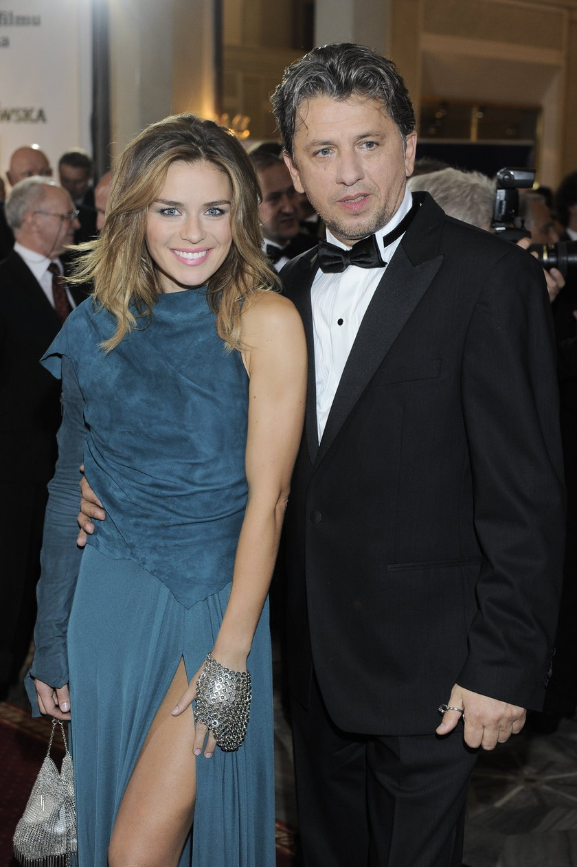 Natasza Urbańska z mężem