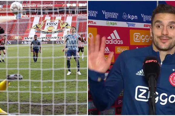 """KOME MAJKU?!"" Dušan Tadić rešio derbi s PSV-om u 92. minutu, a onda je nastao haos jer su ga rivali nazivali pi*** i idiotom! /VIDEO/"