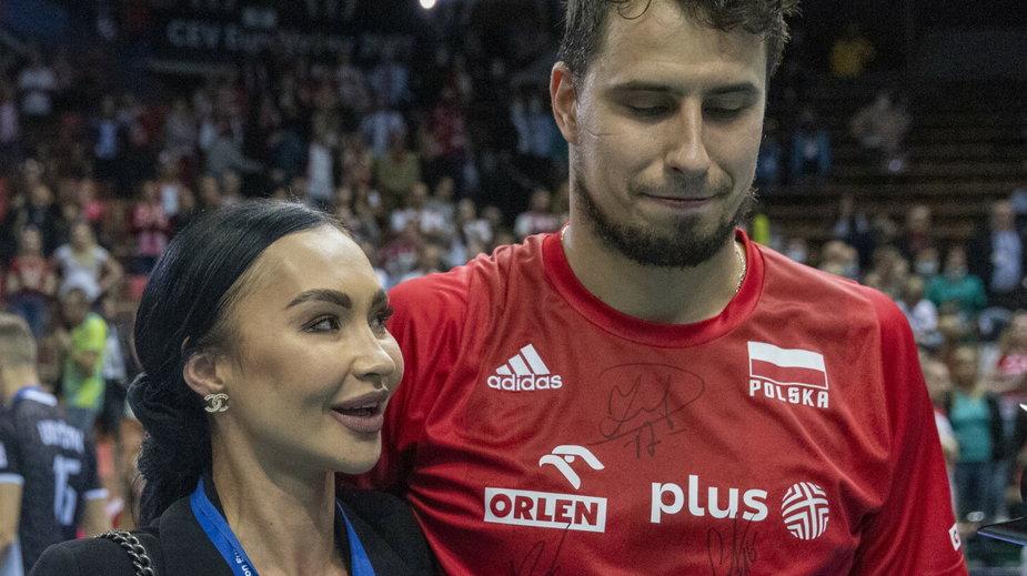 Fabian Drzyzga z żoną