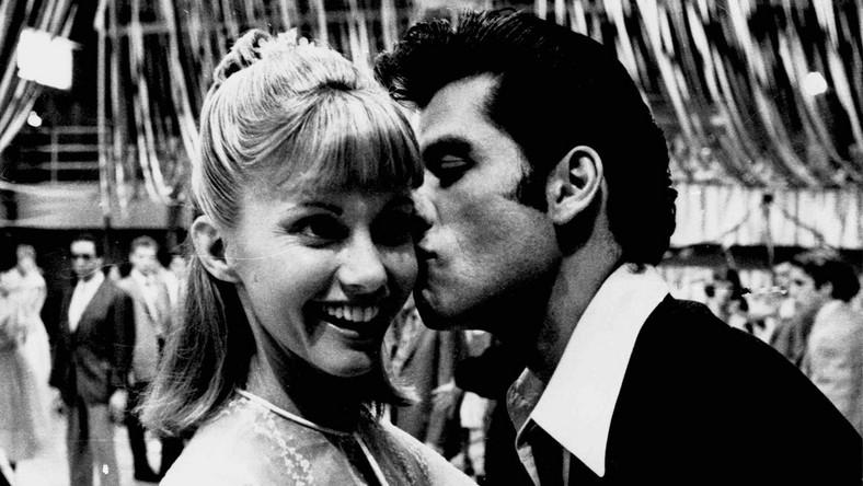 "John Travolta i Olivia Newton-John z czasów ""Grease"""
