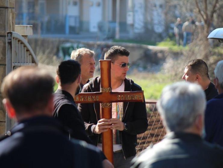 Milenko Savović, sahrana