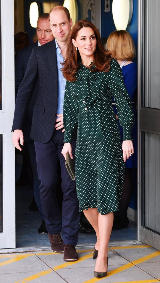 Kate Middleton w sukience w groszki