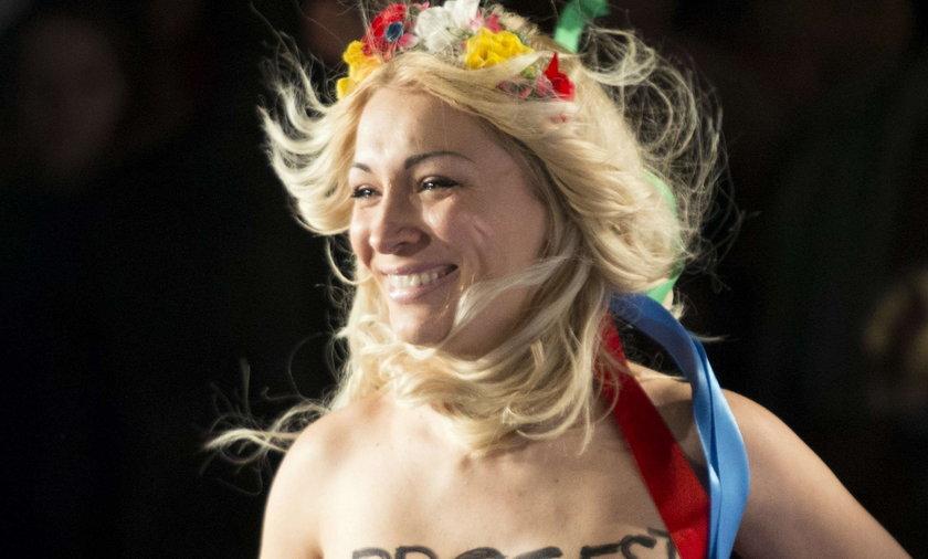 Protest Femen na Peace Gala 2014