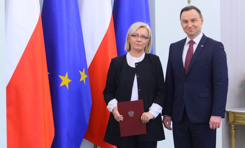 Julia Przyłębska i Andrzej Duda