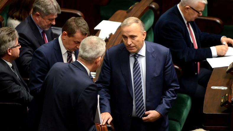 Grzegorz Schetyna i posłowie PO