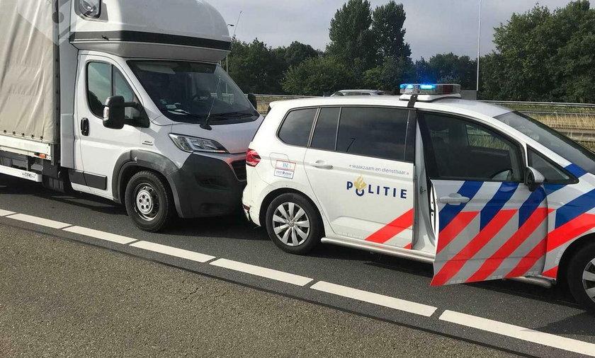 Holenderska policja zatrzymała kierowcę z Polski