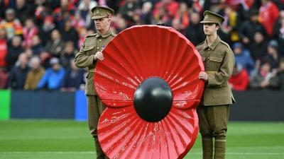 All Blacks wear poppies with pride