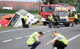 Wypadek autobusu w Konstantynowie. Ofiary śmiertelne i wielu rannych