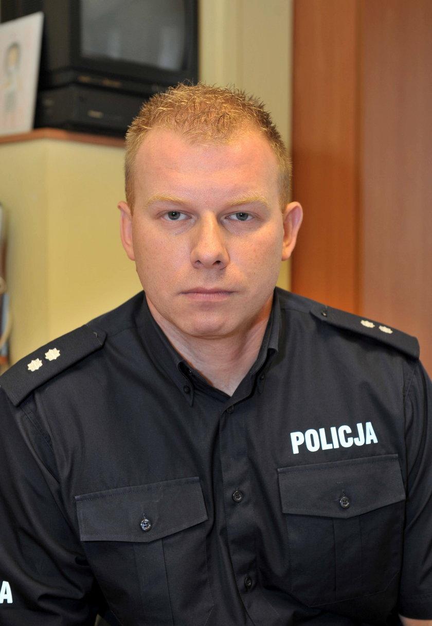 Adam Kolasa rzecznik komendy wojewódzkiej w Łodzi.