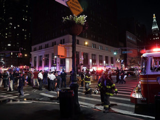 Explosion in Manhattan
