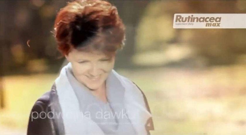 Kwaśniewska z psem w reklamie. Wideo