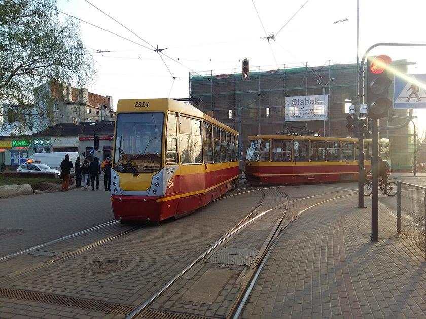 Wykolejenie tramwaju na Reymonta.
