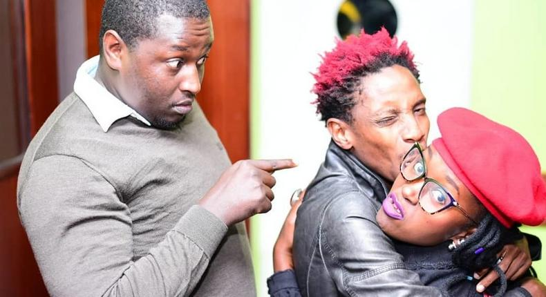 Terence Creative with Eric Omondi and Anne Kasme. Churchill show Director Terence Creative lands new Job
