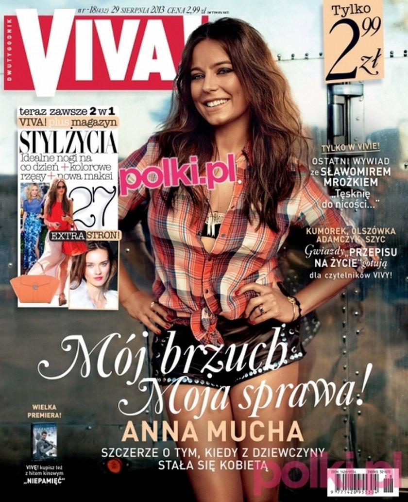 """""""Viva"""" nr 18/2013, na zdjęciu: Anna Mucha"""