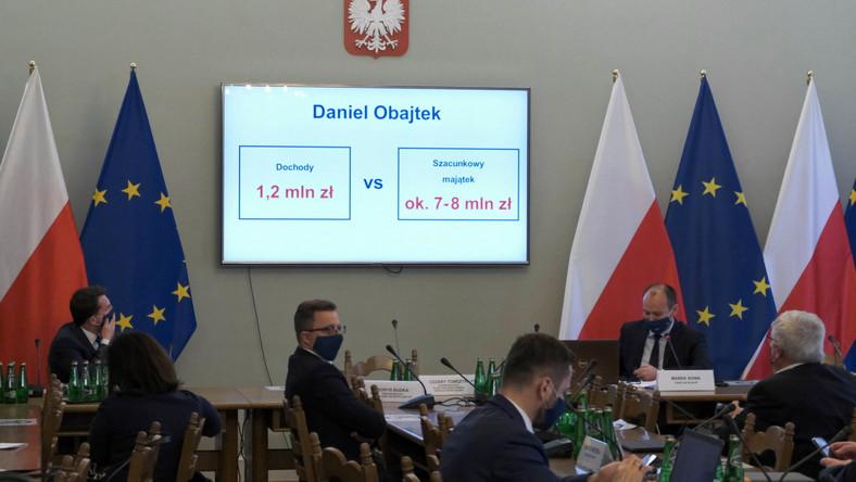 Posiedzenie Zespołu śledczego ds. zbadania legalności działalności publicznej Daniela Obajtka