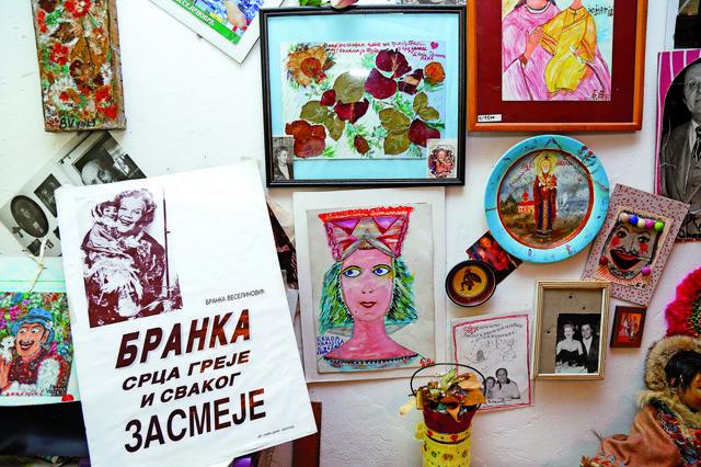 Branka Veselinović, na gajbi kod