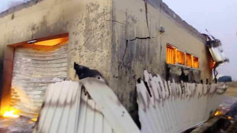 The fire destroyed many election materials on Saturday, February 9, 2019 [Channels TV]