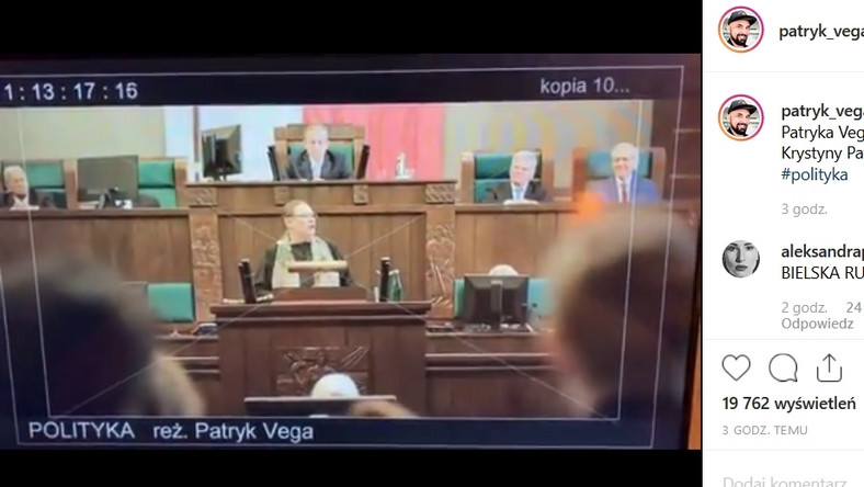 "Kadr z filmu ""Polityka"" Patrya Vegi"