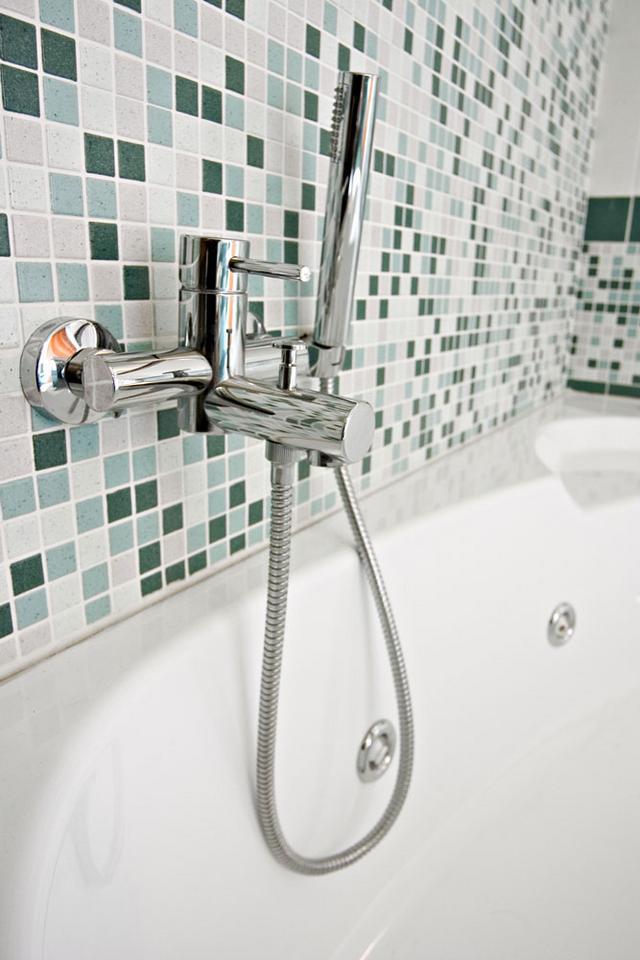Zielona Mozaika W łazience Dom