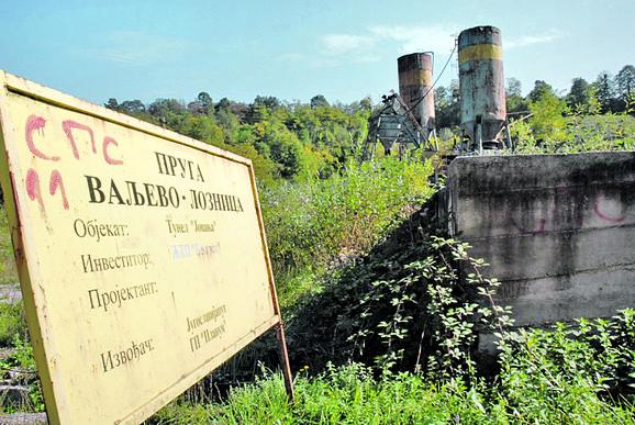 Najviše je urađeno 1998, ali su radovi prekinuti godinu dana kasnije zbog NATO bombardovanja, od kada je gradilište napušteno