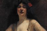 PAJA JOVANOVIĆ (1859-1957) PORTRET POLUOBNAŽENE MLADE ŽENE
