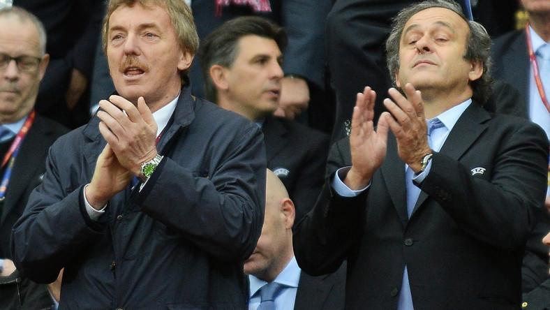 Prezes PZPN, Zbigniew Boniek i szef UEFA, Michel Platini