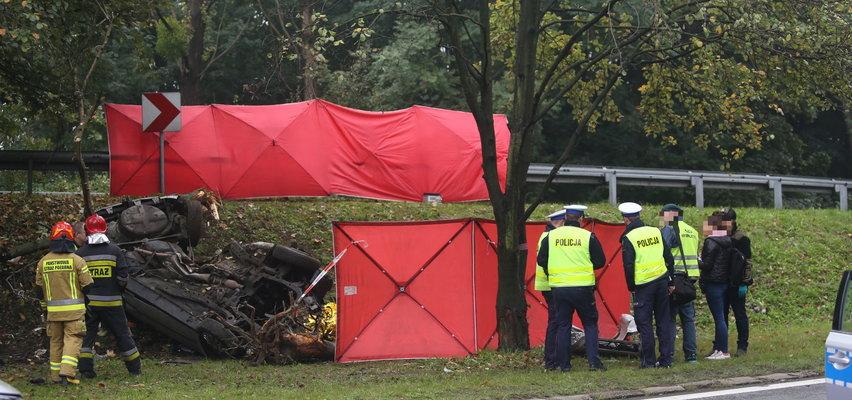 Tragiczny wypadek w Katowicach na DK 86. Zginęło dwóch mężczyzn