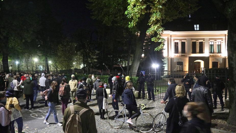 Protest przeciwko zaostrzaniu prawa do aborcji przed siedzibą TK, Warszawa 22.10.2020 r.