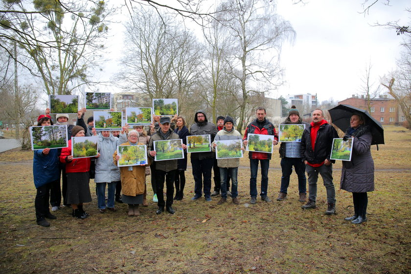 Mieszkańcy osiedla Montwiłła Mireckiego protestują przeciw likwidacji skweru